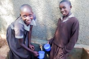 The Water Project: Mwanzo Primary School -  Ngesa And Mercy