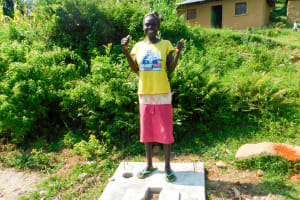 The Water Project: Ulagai Community, Rose Obare Spring -  Sanitation Platform