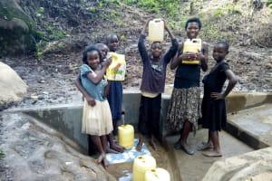 The Water Project: Muraka Community, Peter Itevete Spring -  Clean Water