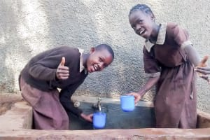 The Water Project: Mwanzo Primary School -  Samantha And Faith