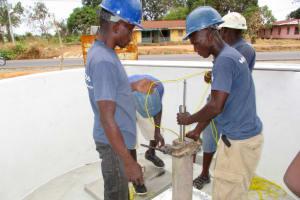 The Water Project: Molokoh Community, 720 Main Motor Road -  Pump Installation