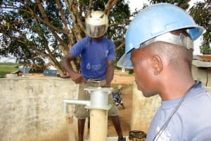 The Water Project: Targrin Community -  Pump Installation