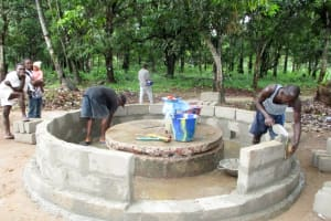The Water Project: Kitonki Community A -  Bricking The Well