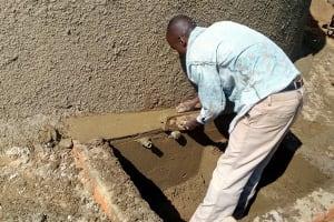 The Water Project: St. Joseph Eshirumba Primary School -  Catchment Construction