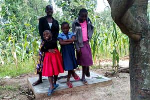 The Water Project: Ejinja Community, Anekha Spring -  Sanitation Platform
