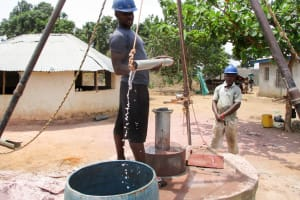 The Water Project: Kasongha Community, Kombrai Road -  Flushing
