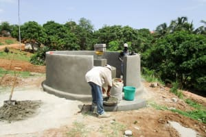 The Water Project: St. John RC Primary School -  Well Pad Construction