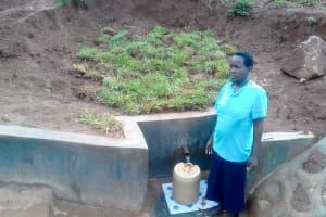 The Water Project: Lwangele Community, Machayo Spring -  Clean Water