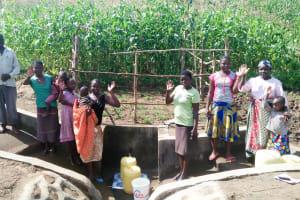 The Water Project: Emulakha Community, Alukoye Spring -  Finished Spring Protection