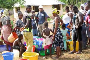 The Water Project: Kasongha Community, Kombrai Road -  Yield Test
