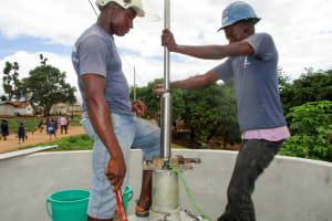 The Water Project: St. John RC Primary School -  Pump Installation