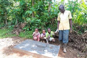 The Water Project: Mbande Community, Handa Spring -  Sanitation Platform