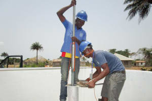 The Water Project: Kasongha Community, Kombrai Road -  Pump Installation