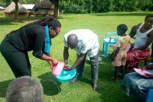 The Water Project: Nambatsa Community, Odera Spring -  Handwashing Training