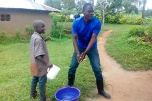 The Water Project: Lwangele Community, Machayo Spring -  Handwashing Training
