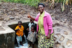 The Water Project: Burachu B Community, Shitende Spring -  Clean Water
