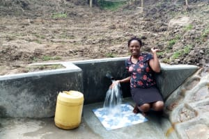 The Water Project: Ejinja Community, Anekha Spring -  Clean Water