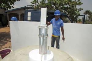 The Water Project: Kasongha Community, Kombrai Road -  Pump Installation Success