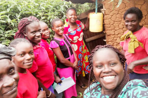 The Water Project: Mwituwa Community, Nanjira Spring -  Trainer With Participants