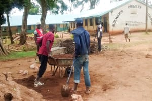 The Water Project: Mulwakhi Primary School -  Carrying Sand To The Construction Site