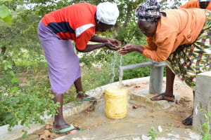 The Water Project: Kivani Community A -  Flowing Water