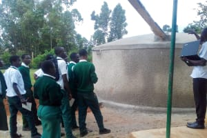 The Water Project: Mulwakhi Secondary School -  Tank Management Training