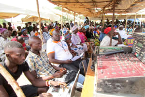 The Water Project: Kasongha Community, Maternal Child Health Post -  Local Leaders In Attendance