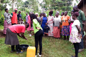 The Water Project: Burachu B Community, Shitende Spring -  Handwashing Training