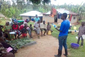 The Water Project: Lwangele Community, Machayo Spring -  Water Treatment Training