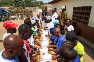 The Water Project: Kasongha Community, Maternal Child Health Post -  Handwashing Station Training
