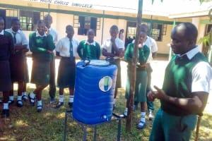 The Water Project: Mulwakhi Secondary School -  Handwashing Training