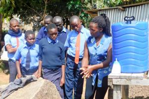 The Water Project: Samson Mmaitsi Secondary School -  Handwashing Training