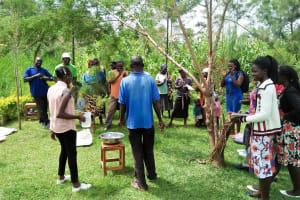 The Water Project: Muraka Community, Peter Itevete Spring -  Handwashing Training