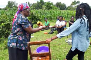 The Water Project: Mbande Community, Handa Spring -  Handwashing Training