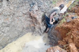 The Water Project: Lwangele Community, Machayo Spring -  Excavation