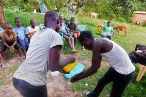 The Water Project: Ulagai Community, Aduda Spring -  Handwashing Training
