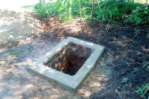 The Water Project: Nambatsa Community, Odera Spring -  Pit For The Sanitation Platform