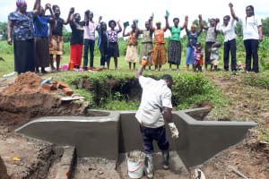 The Water Project: Mbande Community, Handa Spring -  Group Picture After Spring Management Training
