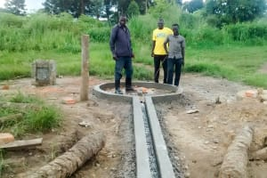 The Water Project: Nyakarongo Community -  Dan And The Crew After Finishing The Well Pad