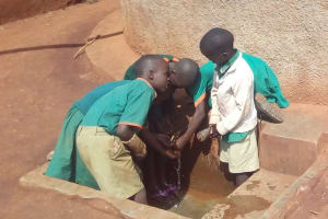 The Water Project: Kilingili Primary School -  Students Fetch Water
