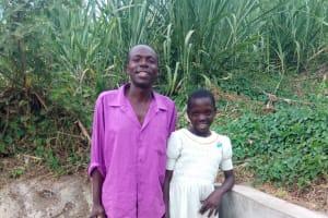 The Water Project: Mwinaya Community, Severe Spring -  Bonface Waswa And Sylvia Were