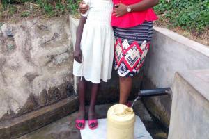 The Water Project: Mwinaya Community, Severe Spring -  Sylvia Were