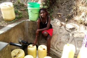 The Water Project: Shitungu Community, Hessein Spring -  Abigael Ayuma