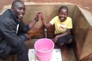 The Water Project: Emabungo Community, Bondeni Spring -  Erick Wagaka And Angel Makokha