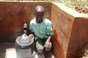 The Water Project: Kidinye Community, Wamwaka Spring -  Eugene Ngatha