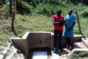 The Water Project: Bumavi Community, Shoso Mwoga Spring -  Patrick Masambaga And Faith Khasoa