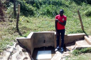 The Water Project: Bumavi Community, Shoso Mwoga Spring -  Patrick Masambaga