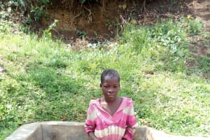 The Water Project: Shitoto Community, Abraham Spring -  Chomba Posing At The Spring