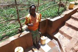 The Water Project: Mutambi Community, Kivumbi Spring -  Madam Florence Chelagat