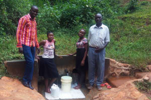 The Water Project: Shitaho Community, Mwikholo Spring -  Reliable Water